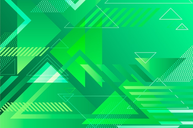 Background green abstract geometric Free Vector
