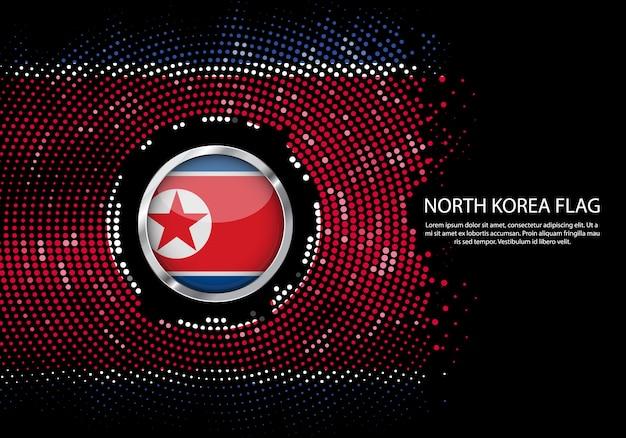 Background halftone gradient template of north korea flag. Premium Vector