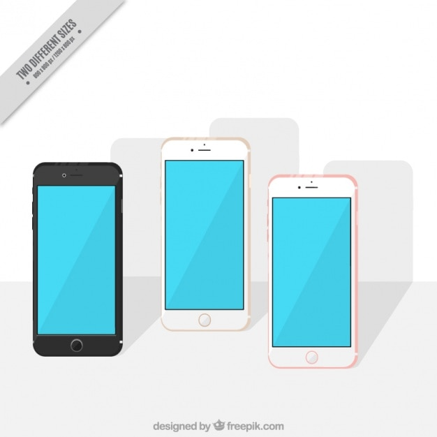 Background iphone 7 in flat design Free Vector