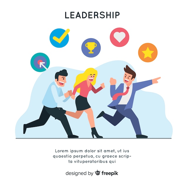 Background leadership template Free Vector