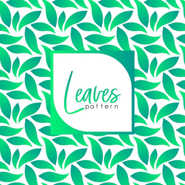 Background leaves pattern Premium Vector