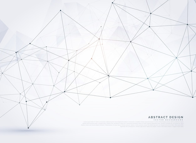 Background of lines and dots with geometric shapes Free Vector