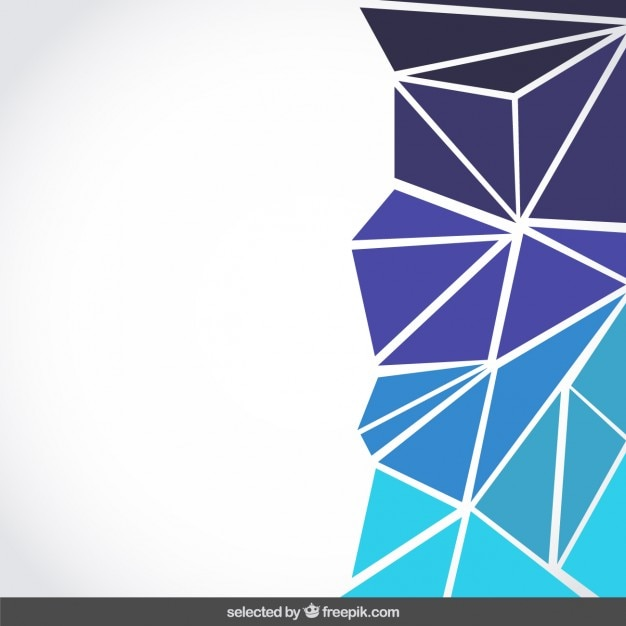 Background made with blue triangles Free Vector