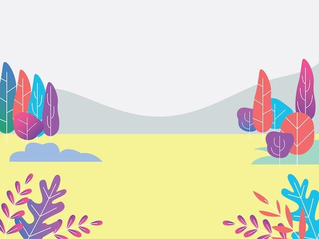 A background mountain wallpaper landscape Premium Vector