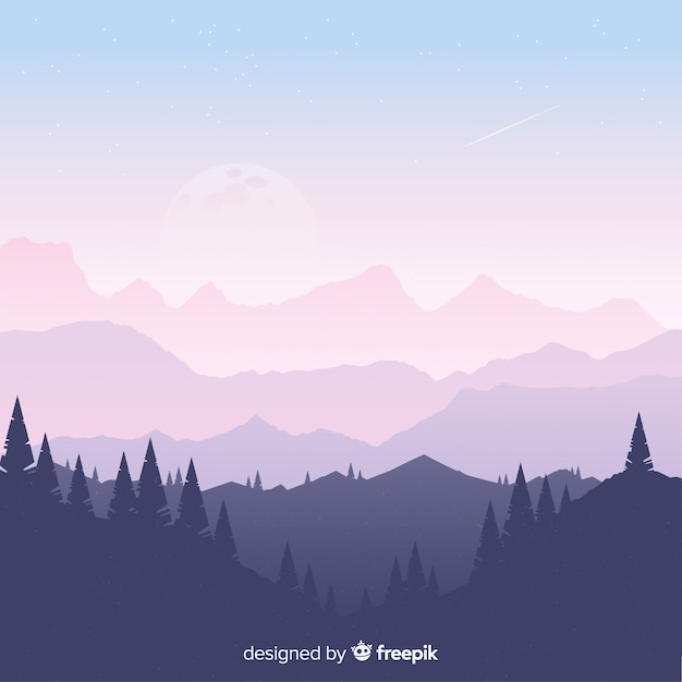 Background mountains landscape Free Vector