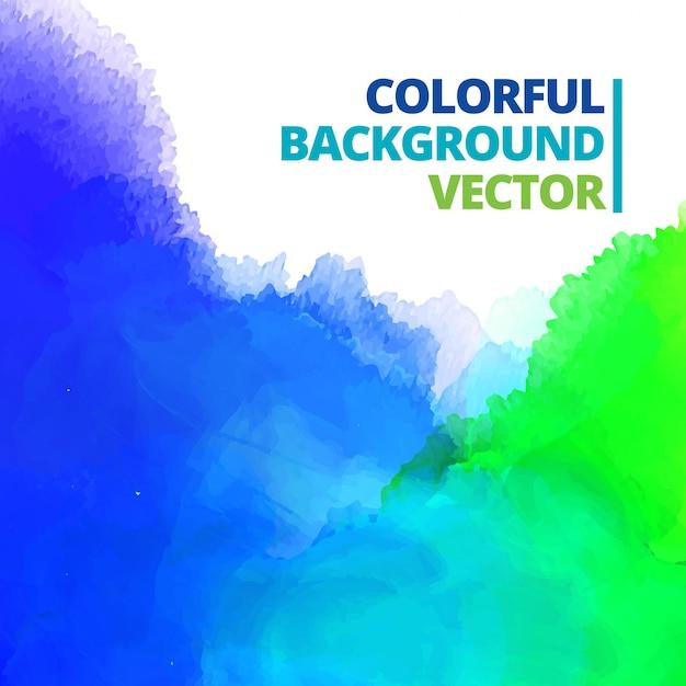 Background of multi color ink design Free Vector
