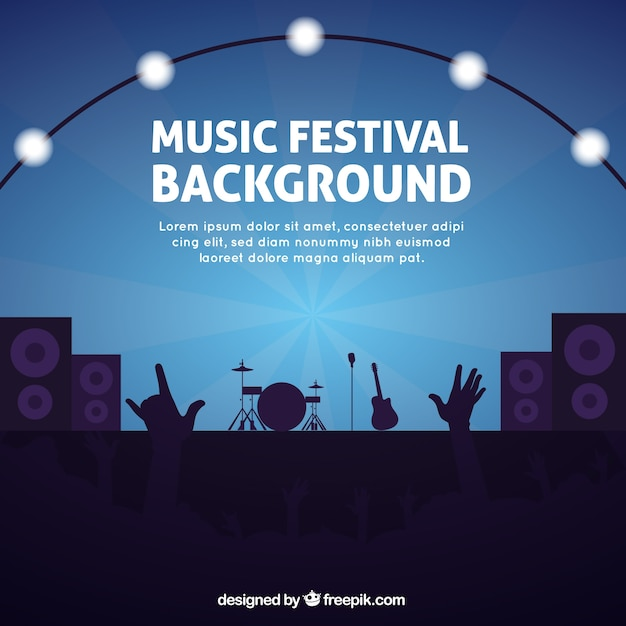 Background for a music festival Vector | Free Download