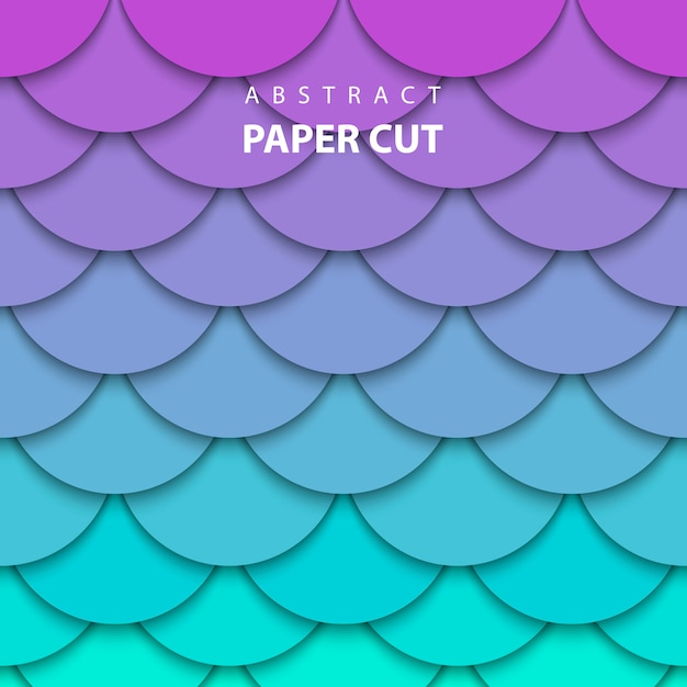 Background neon lilac and turquoise paper cut Premium Vector