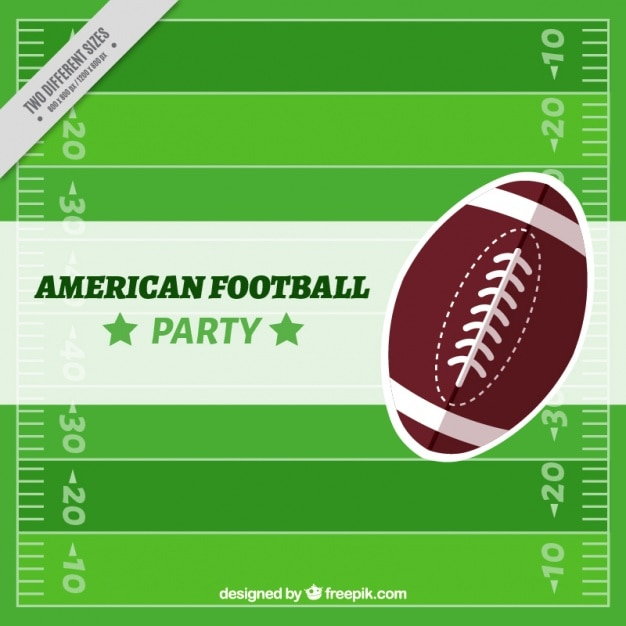 Background of american football field with\ ball