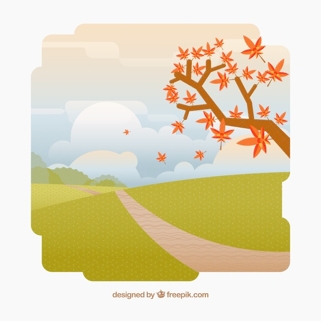 Background of autumnal landscape