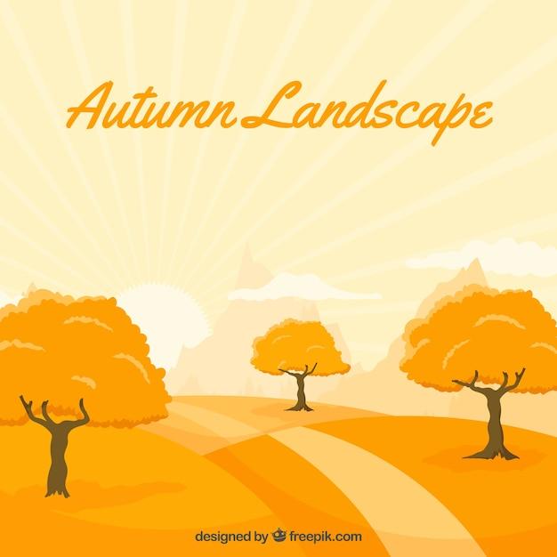 Background of beautiful autumnal\ landscape