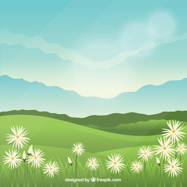 Background of beautiful spring landscape