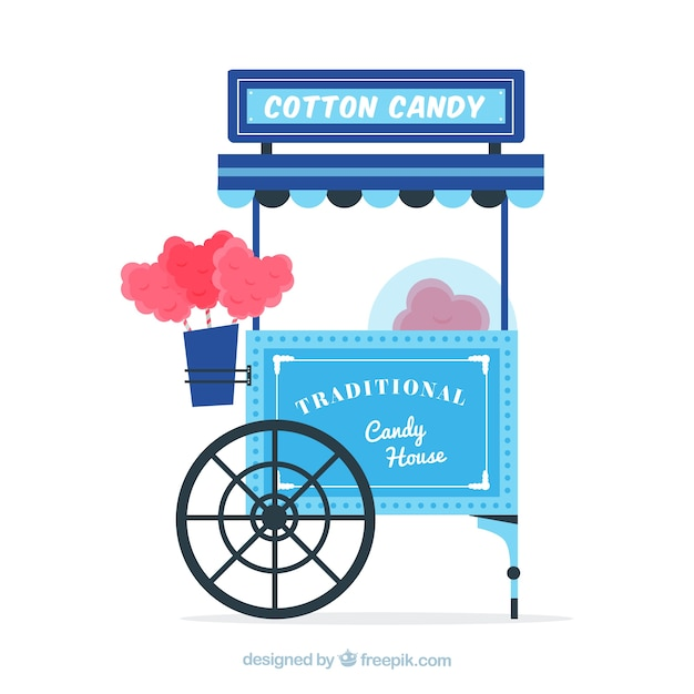Background of beautiful vintage cotton candy cart