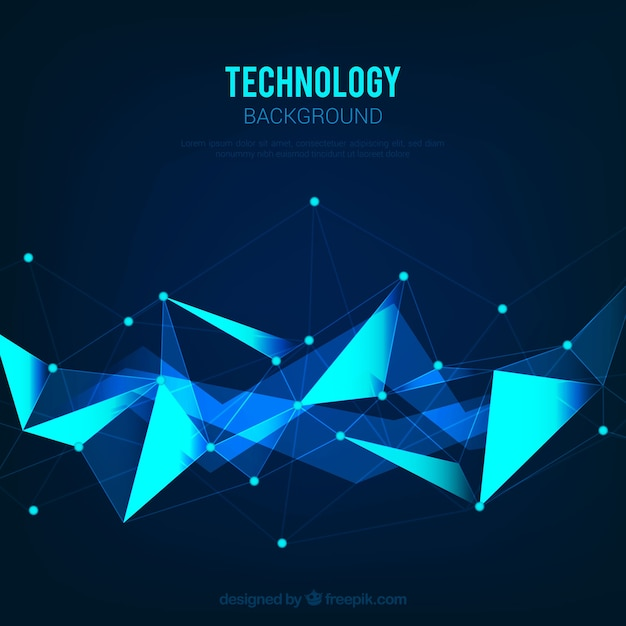 Background of blue abstract shapes