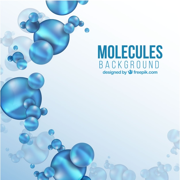 Background of blue molecules