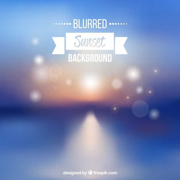 Background of blurred sunset with bokeh\ effect