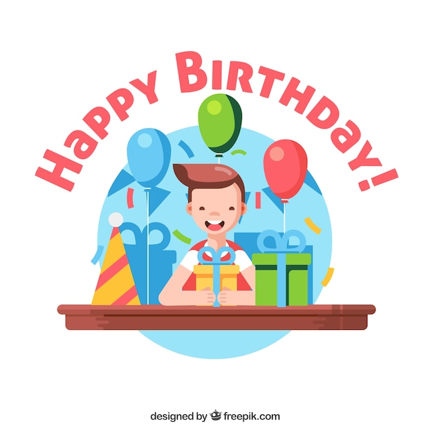 Background of boy receiving birthday gifts vector free download background of boy receiving birthday gifts free vector negle Image collections