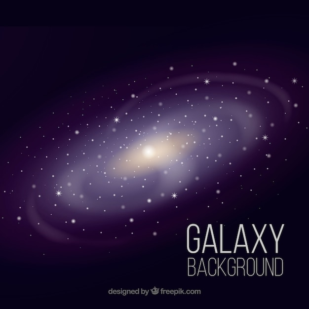 Background of bright galaxy