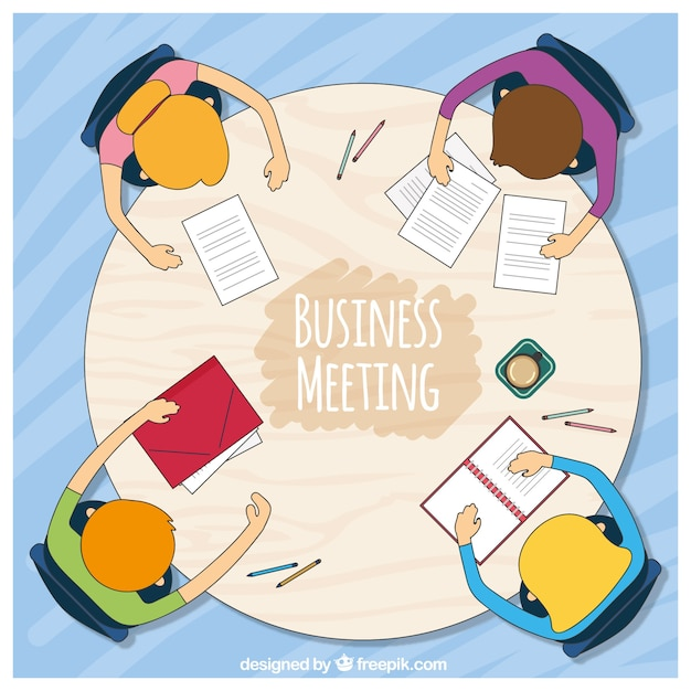 Background of business meeting at a round\ table