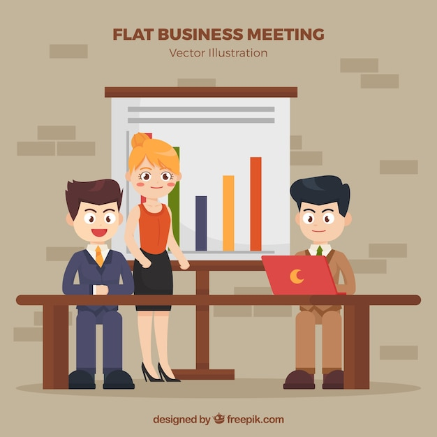 Background of business meeting with nice\ characters