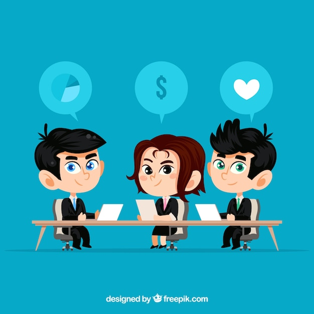 Background of business people in a\ meeting