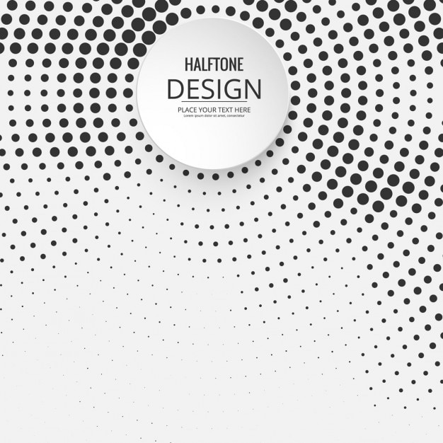 Background of circles halftone Free Vector