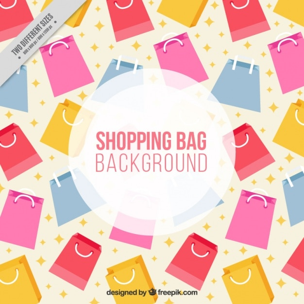 Background of colored shopping bags in flat design Vector | Free ...