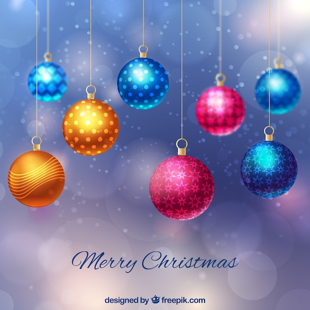 Colorful Christmas Balls.Background Of Colorful Christmas Balls Stock Images Page
