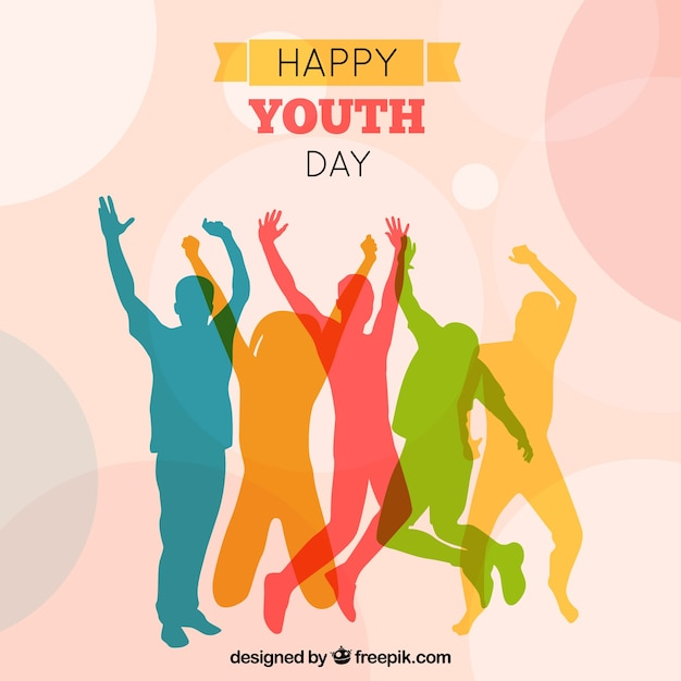 background of colorful people silhouettes vector free Youth for Christ Clip Art christian youth day clipart