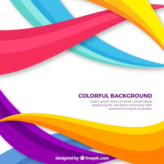 background of colorful waves vector free download