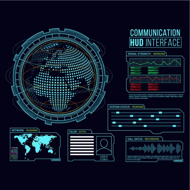 Background of communication interface Premium Vector