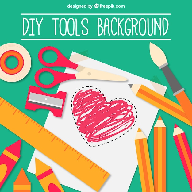 Background Of Craft With Utensils Vector Free Download