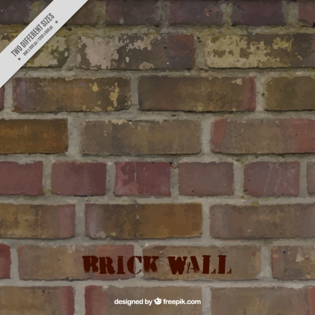 Background of damaged bricks wall