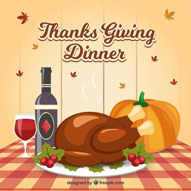 Background Of Delicious Dishes For Thanksgiving Dinner Free Vector
