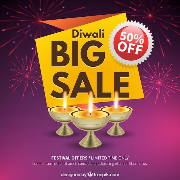 Background of diwali fireworks