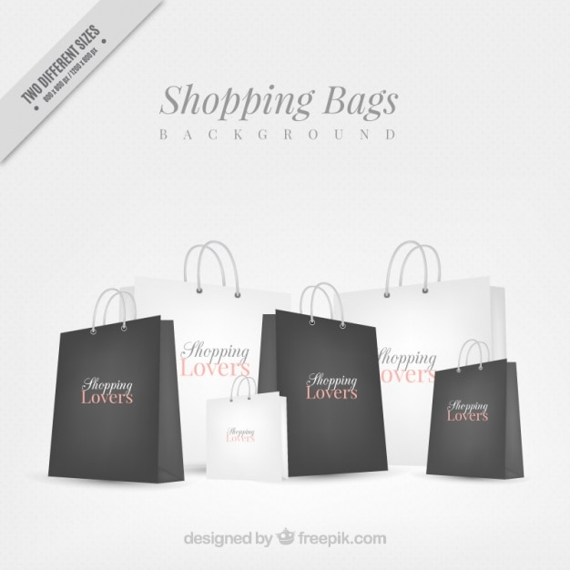 Background of elegant shopping bags Vector | Premium Download