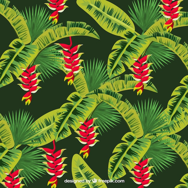 Background of exotic vegetation