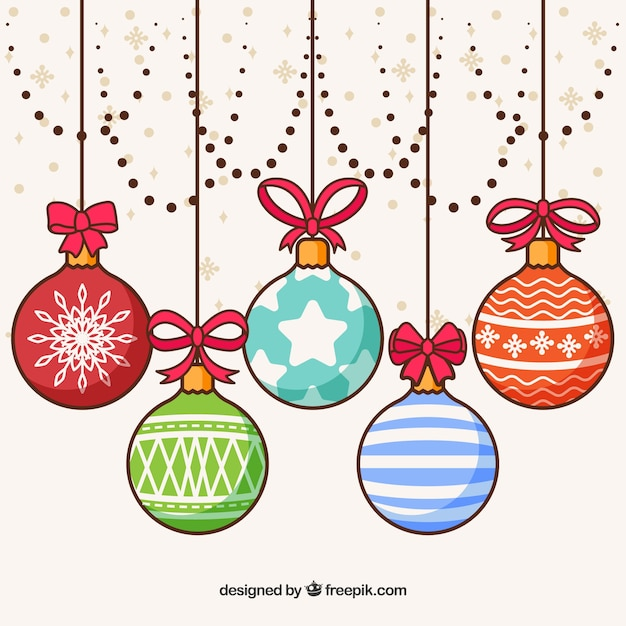 background of hand drawn christmas balls vector free free vector graphics snowflakes free vector images snowflakes