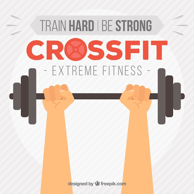 Free Weights Your Design Lyrics: Background Of Hands Lifting Weights In Flat Design Vector