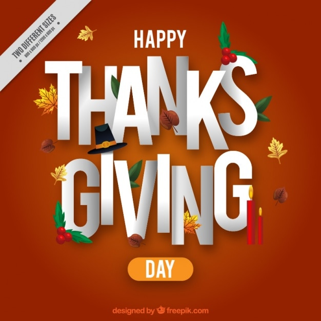 background of happy thanksgiving message vector free download