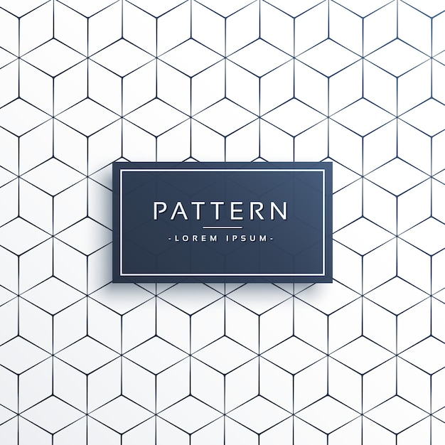 Background of lines and hexagons Free Vector