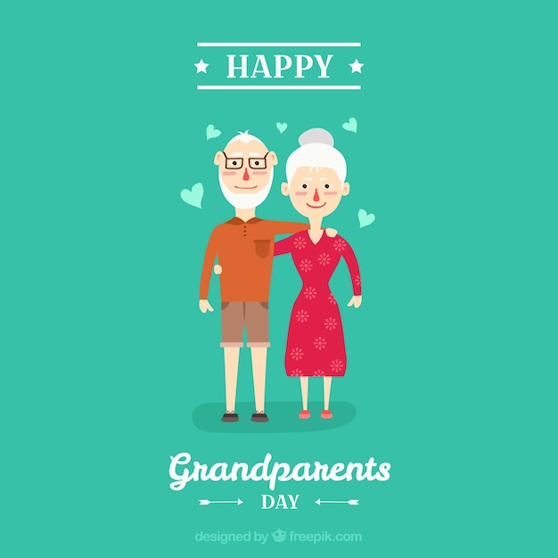 Background of lovely couple of grandparents in love