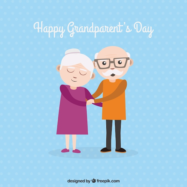 Background of lovely grandparents holding hands
