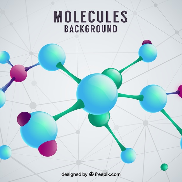 Background of molecules in realistic style