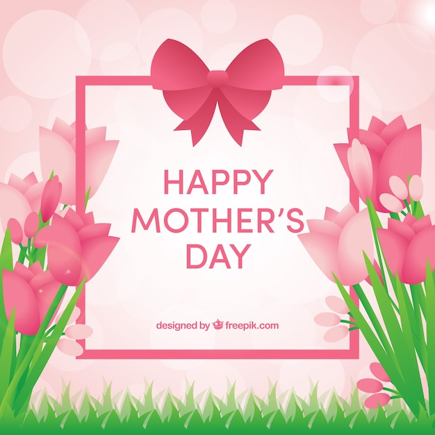 Background of mother\'s day flowers