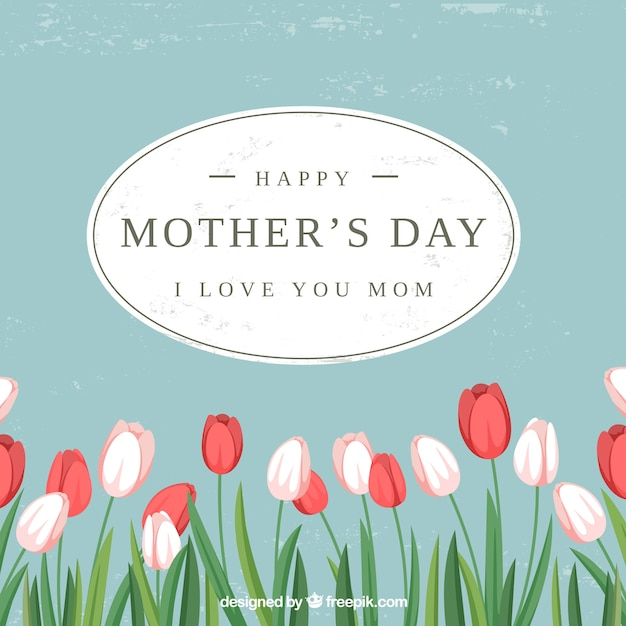 Background of mother\'s day tulips
