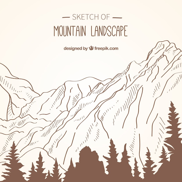 Background of mountain landscape\ sketches