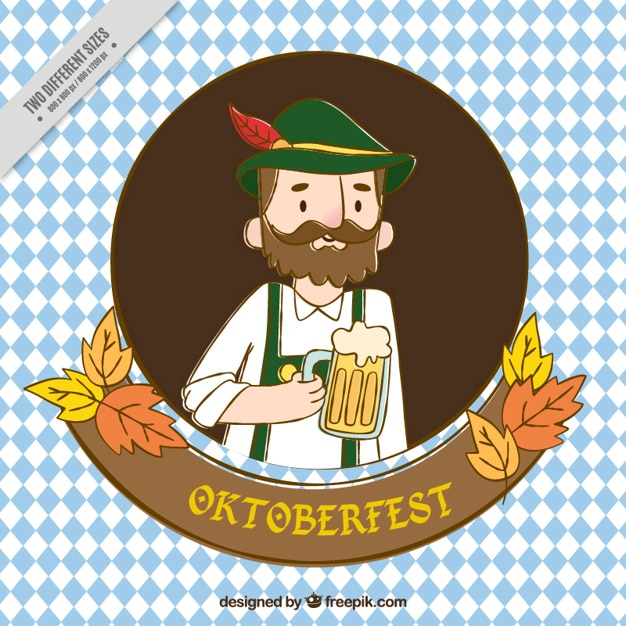 Background of nice man with typical clothes of oktoberfest ...
