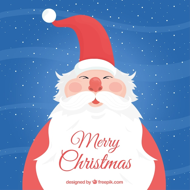 Background of nice santa claus