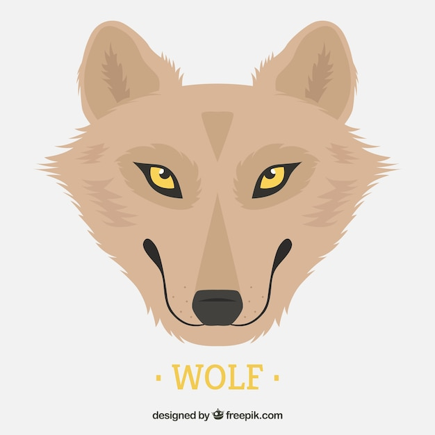 background of pretty wolf with yellow eyes vector free download